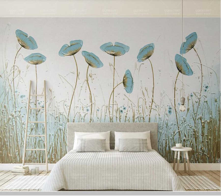Papel De Parede Nordic Stil Einfache Mint Grun Blumen 3d Tapete Wohnzimmer Tv Wand Kinder Schlafzimmer Kuche Badezimmer Wand Tapeten Aliexpress