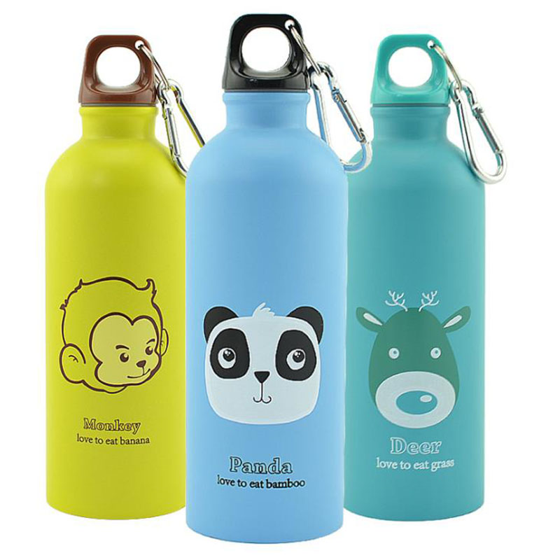 500ML Kids Gifts Cute Water Bottle Stainless Steel Water Bottle Hydro Leakproof Sport Drinking Flask Bottle for Children Present in Water Bottles from Home Garden