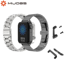 For Xiaomi Mi Watch Strap With Dedicated Connector Bracelet Wristbands Perfect Match Free Linker Metal Replacement Accessories