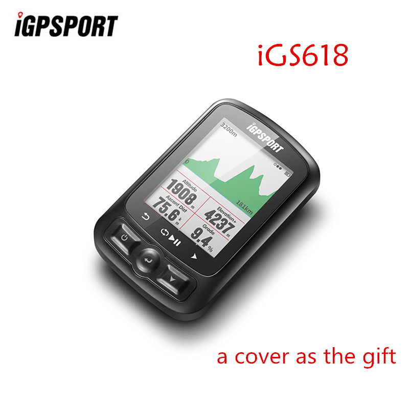 IGPSPORT IGS618 ANT+ GPS Computer Bike Bicycle Bluetooth Wireless Stopwatch Waterproof Cycling Bike Sensor Speedometer Computer