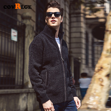 New Casual Cardigan Sweater 2019 Autumn Winter Men Zipper Fashion Solid Pockets Knit Outwear Coat MWK008