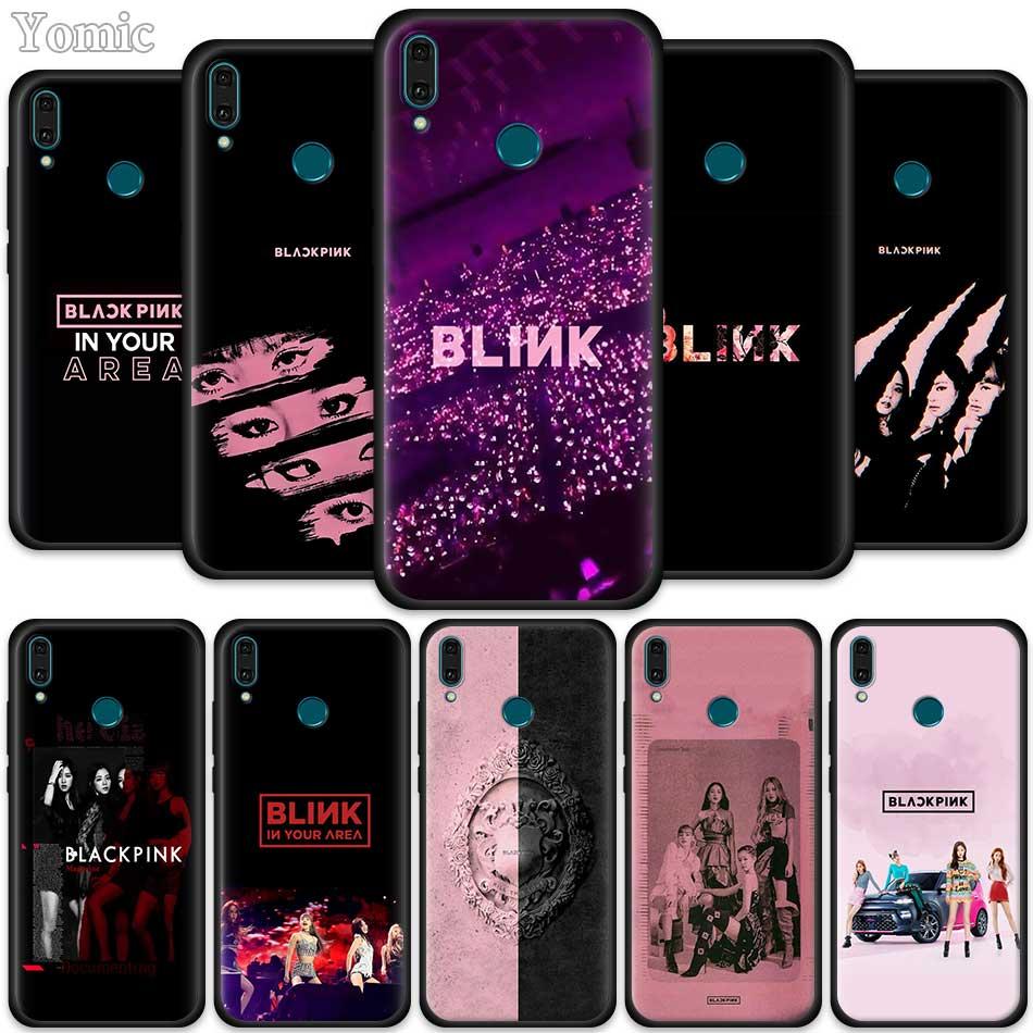 BLACK PINK BLACKPINK Kpop Black Case for Huawei Honor Y9 Y7 Y6 Y5 ...