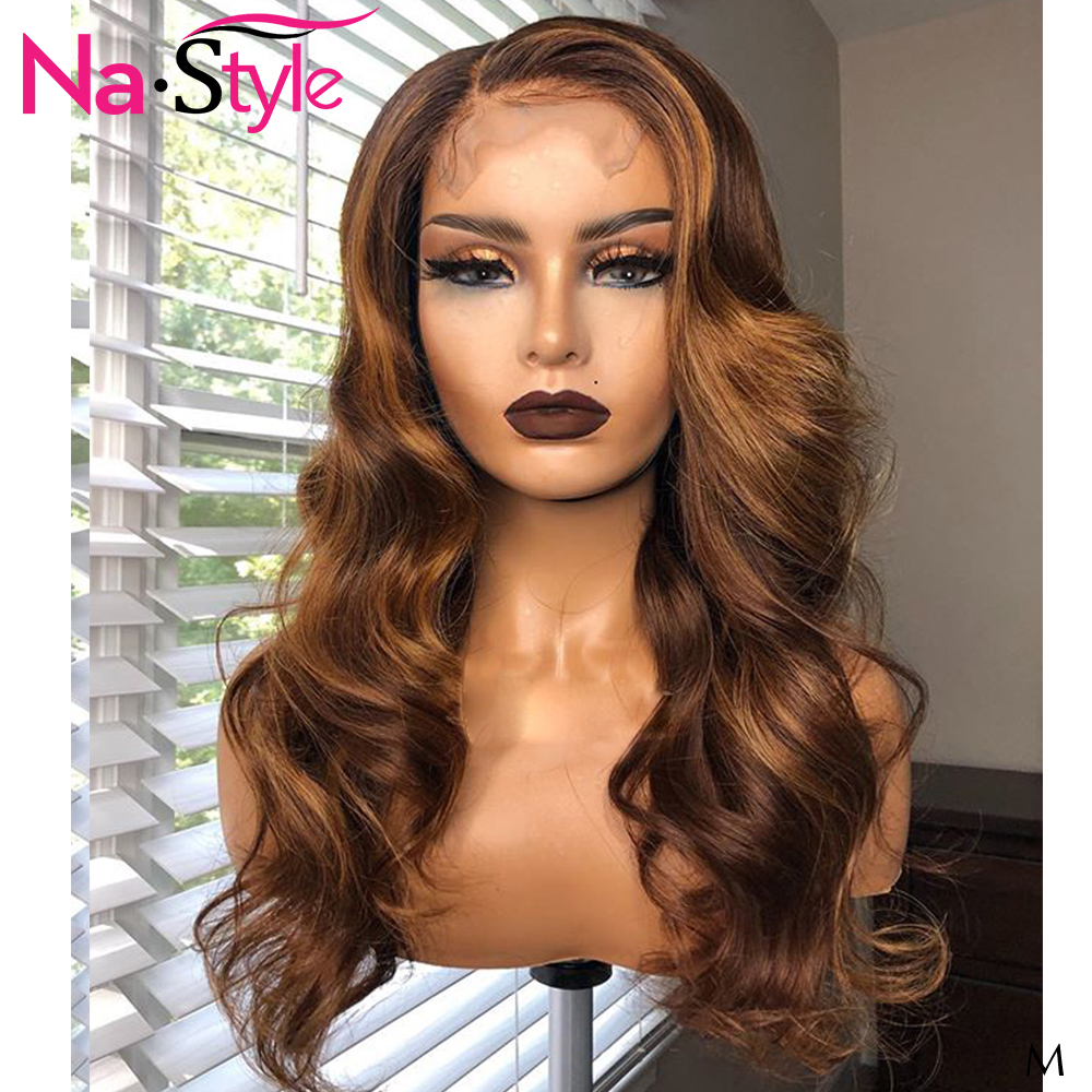 4/30 Honey Blonde Wig 13x6 Lace Frontal Remy Human Hair Wigs Pre Plucked Body Wave Wigs For Black Women Brazilian Hair 130 Remy