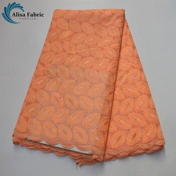 Alisa Swiss Voile Lace Fabrics 2020 High Quality Nigerian Lace Fabrics 100% Cotton FabricsWith Embroidery 5 Yards/pcs B97783150C