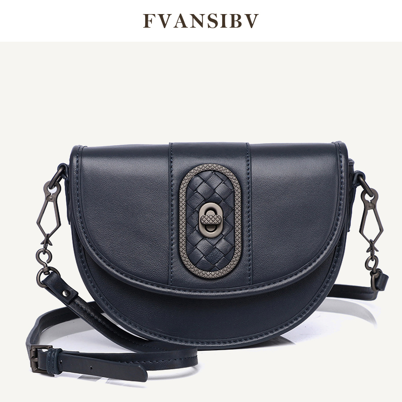 Luxury Women's Shoulder Bag 100% Leather Sheepskin Simple Exquisite Woven Brand Bag Fashion Casual Lock Bag 2020 New Multi-Colo