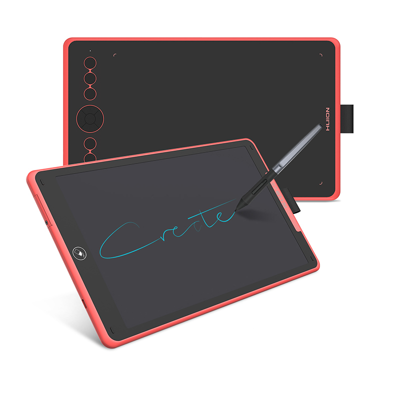 HUION H320M 2 In 1 Graphic Tablet Digital Writing Board 8192 Level Drawing Pen Tablet LCD Writing Tablet Battery-free Stylus