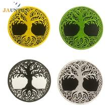 Badges brodés Yggdrasil l'arbre du monde, Patch rond gothique pour casquette sac de veste, accessoires de Patch DIY