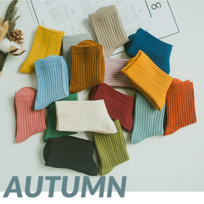 Pre-sale 2020 New 1-12y Baby Cotton Socks Kids For Boys And Girls Toddler Autumn Winter Short Socks Solid Color Ribbed Socks
