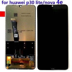 """Image 5 - Rama + oryginalny dla 6.15 """"Huawei P30 Lite MAR LX1M 24MP 48MP MAR LX2J ekran LCD + Panel dotykowy Digitizer montaż części"""