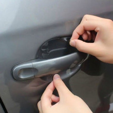 4 adet araba kapı kolu görünmez şeffaf Anti scratch koruma koruyucu Sticker VS998