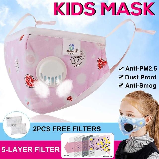 1/5pcs Children PM2.5 Filter Mask 5 Layers Replacement Filter Dustproof Flu Bacteria Proof Cotton Face Masks Anti Fog Mask