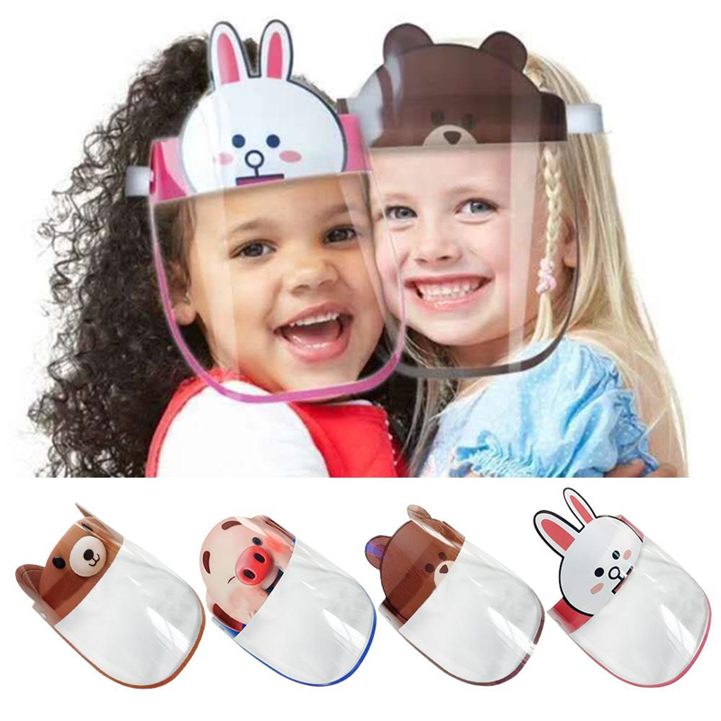 Kids Sun Hat Children Clear Anti-fog Dust-proof Protective Visor Full Face Hat Covering Mask Shield Eye Protection Anti-fog Mask