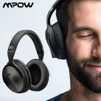 Mpow H5 2nd 2Gen Wireless Bluetooth Headphones ANC Active Noise Cancelling Headphone With Carrying Bag For Huawei P30 Iphone XR - DISCOUNT ITEM  45% OFF All Category
