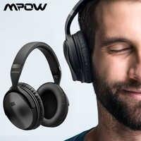 Mpow H5 2nd 2Gen casque sans fil Bluetooth et casque anti-bruit actif avec sac de transport pour Huawei P30 Iphone XR