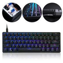 GK61 61 Schlüssel Mechanische Tastatur USB Verdrahtete LED Backlit Achse Gaming Mechanische Tastatur Für Desktop Drop Verschiffen