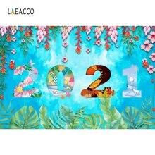 Laeacco 2021 фоны с новым годом цветами листьями домашнее украшение