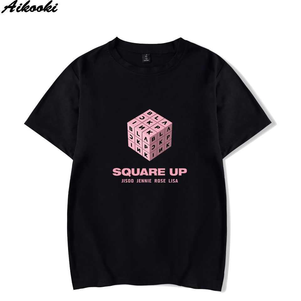 Aikooki 2018 новая футболка с принтом черного розового цвета, летняя Мужская/Женская футболка высокого качества, мужская повседневная футболка Harajuku, одежда