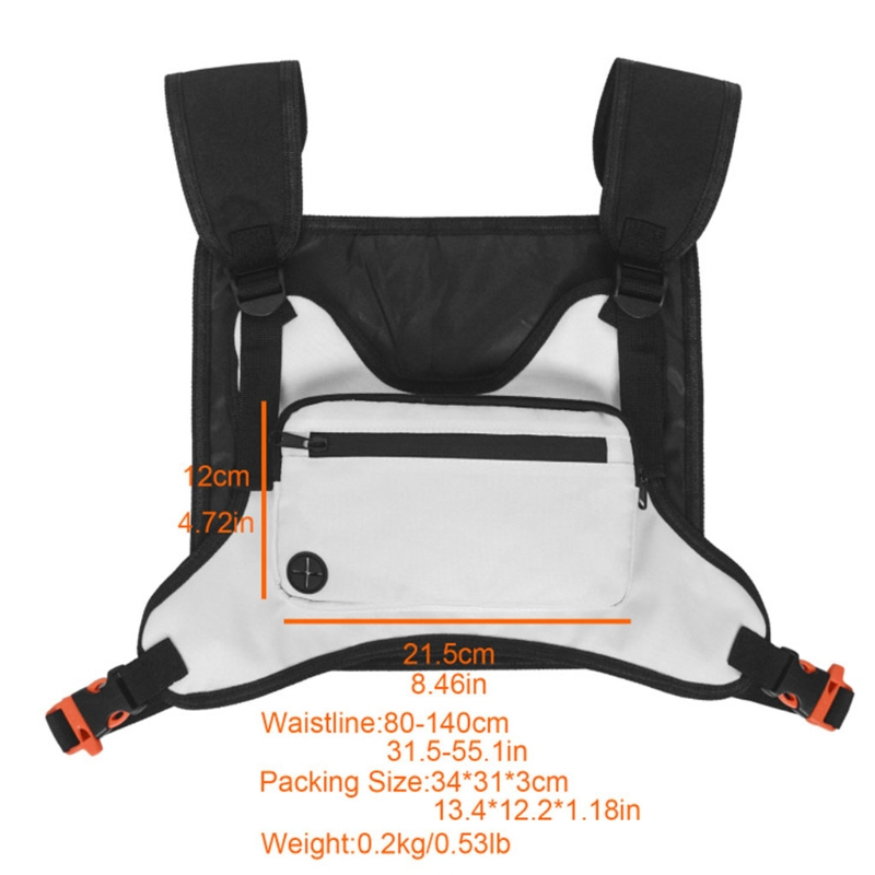 Sport Chest Front Bag Outdoor Chest Rig Pouch Versatile Backpack Harness Vest W0YB
