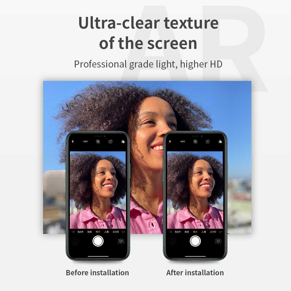 YesIDo Luxury กล้องเลนส์ Protector สำหรับ iPhone 11 PRO MAX กระจกนิรภัย + ด้านหลังเลนส์ป้องกันแหวนสำหรับ iPhone11 Pro