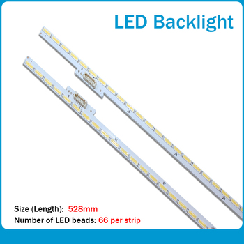 New 2pcs/set LED Backlight Strips for Samsung STS480A20(LTI480HN02,LJ07-01302/3A)_66LEDs_R/L-TYPE_Rev0.2_160523 x 48 inch