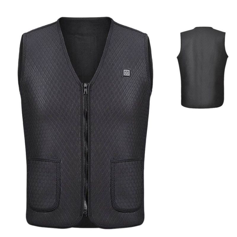 Winter USB Heating Warm Vest Men And Women Unisex Electric Heated Outdoor Camping Hiking Jacket Clothing