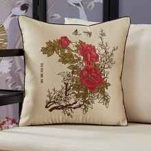 Chinese embroidery flower and bird pillow Chinese style jacquard sofa cushion Funda de almohada наволочка kussensloop