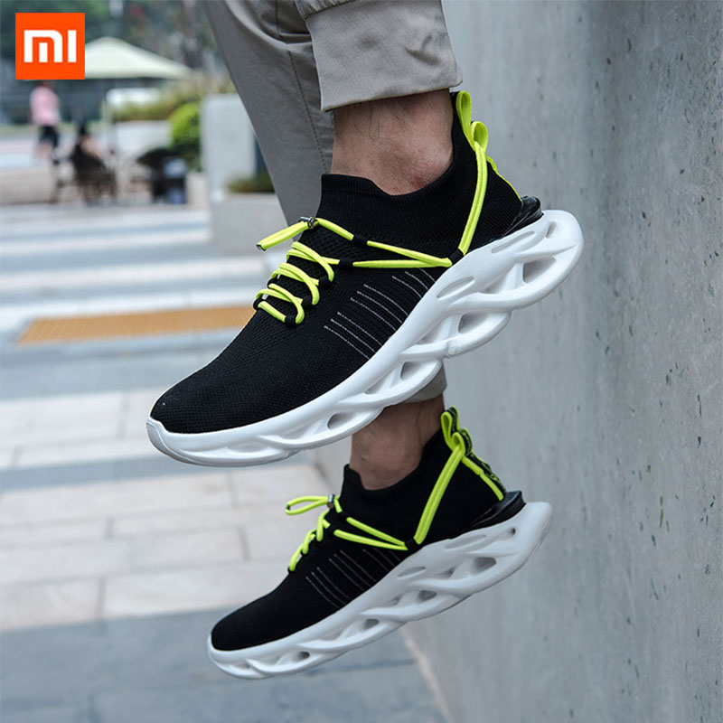 Xiaomi HYBER Arc Damping Flying Woven Jogging Shoes Men Sneakers Ultralight Shock Absorption Non slip Soft Sport Running Shoes|Smart Remote Control| - AliExpress