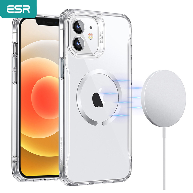 ESR Magnetic Case for iPhone 12/12 Pro Max Sidekick Hybrid Case with HaloLock Magnetic Wireless Charging Case for iPhone 12 Pro