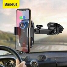 Chargeur de voiture sans fil Baseus Qi pour iPhone support de voiture de charge sans fil rapide pour Samsung support de support de téléphone de voiture à Induction infrarouge