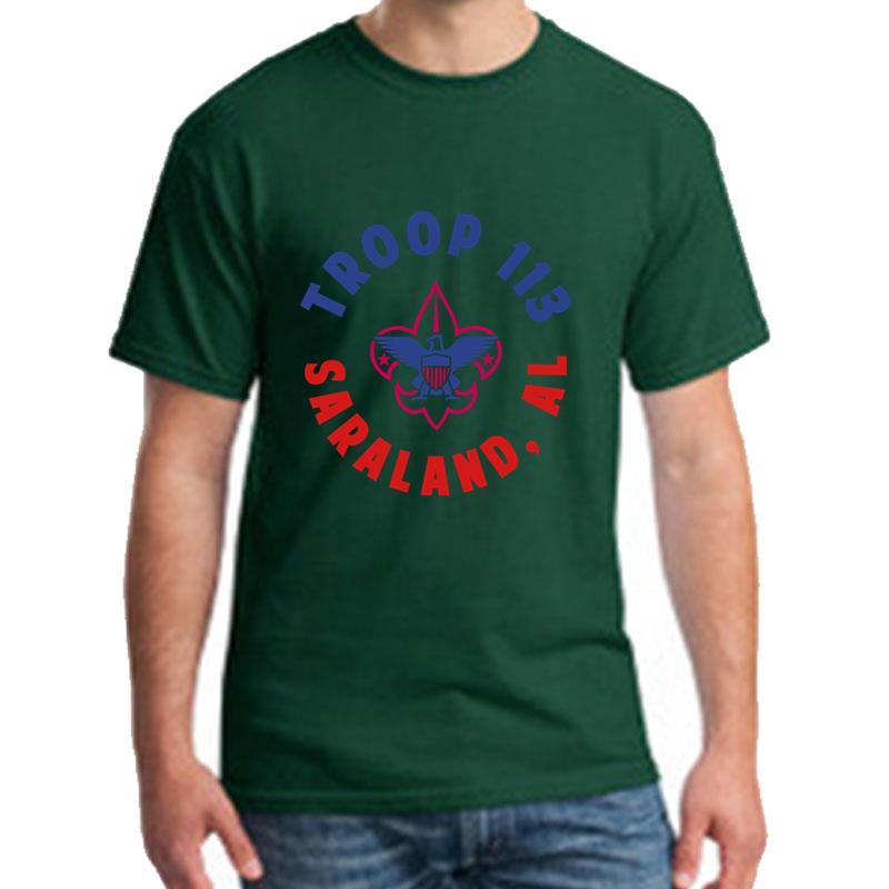 Design <font><b>Bsa</b></font> Troop tee <font><b>shirt</b></font> plus sizes s-57xl Comfortable fitness clothing Hipster men tshirts image