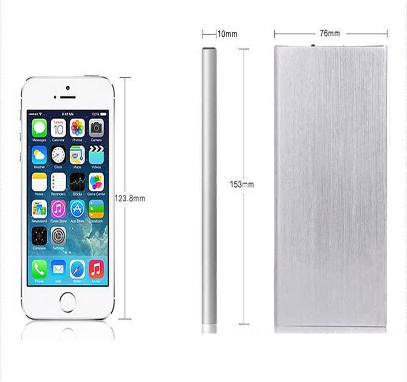 Power Bank Slim Usb Powerbank 30000 MAh Poverbank Telepon Portabel Baterai Eksternal Charger untuk Ponsel iPhone Xiaomi