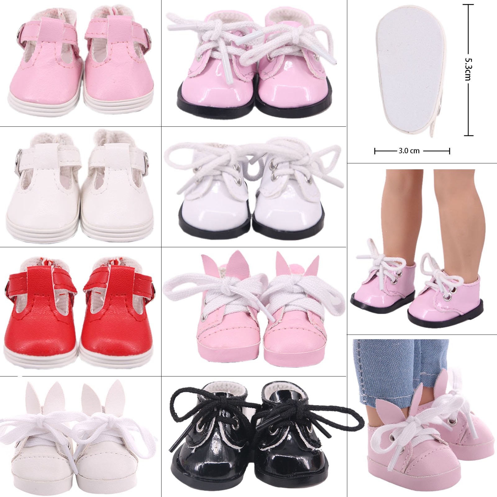 1/6 BJD Blythe 5cm Doll Shoes Canvas Cartoon PU Shoes For 14.5 Inch American Doll&1/6 BJD Blythe EXO Doll Boots Doll Girl`s Toy