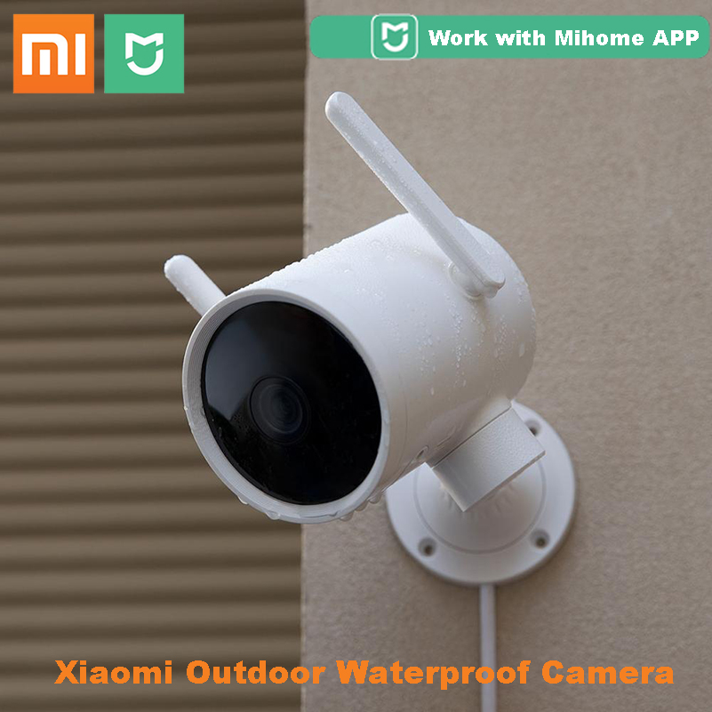 2020 Xiaomi Smart Outdoor Camera Waterproof PTZ Webcam 270 Angle 1080P Dual Antenna Signal WIFI IP Cam Night Vision Mi Home APP