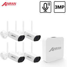 ANRAN 3MP Mini Video Surveillance Kit Audio Record CCTV System Waterproof Outdoor Wireless IP Cameras Plug & Play Night Vision