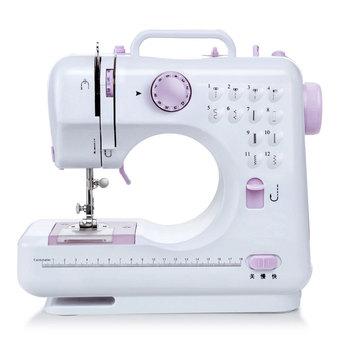 Electric Sewing Machine Automatic Sewing Machine Purple White Mini Handheld Portable Single Needle Small Machine Textile Flatbed