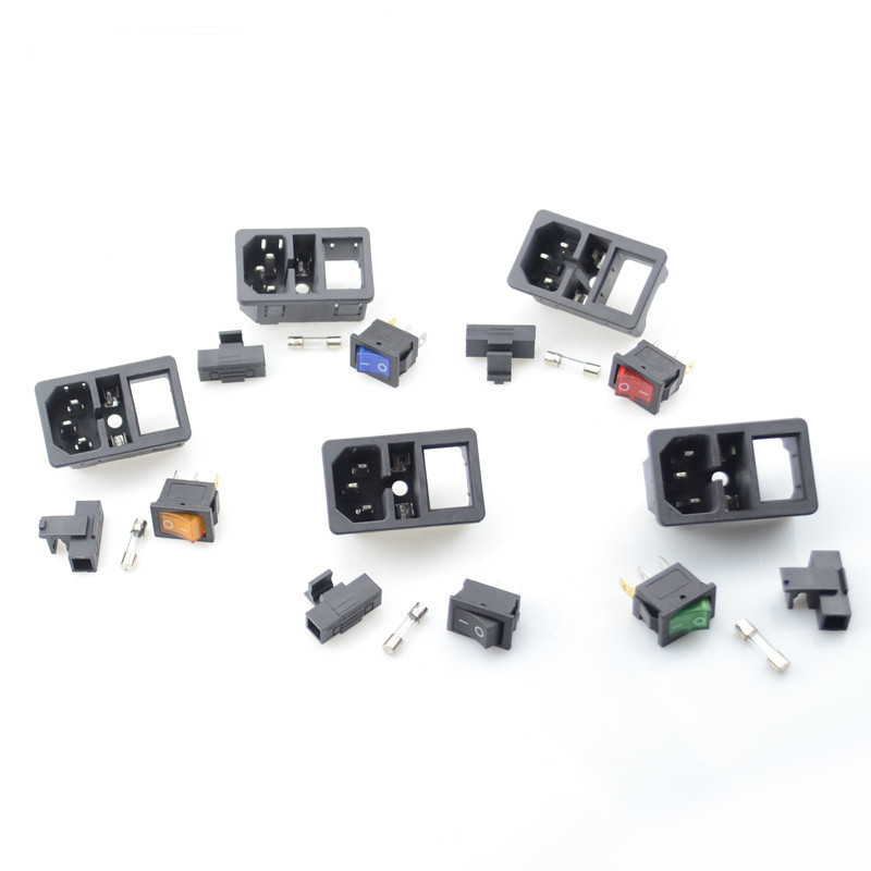 Delivery IEC320 C14  With 10A Fuse!  Rocker Switch Fused  Power Switch Socket Fuse Switch  Electrical Equipment