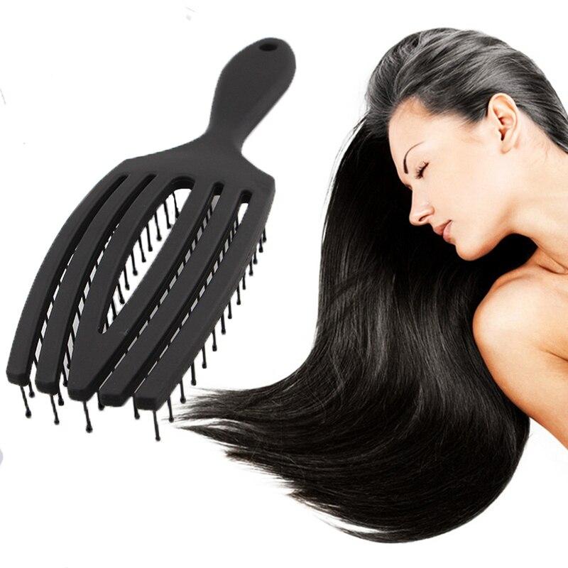 Set Of 2-Wet Brush, Entangled Nemesis Brush, Unisex, Hair Care Cream, Professional Quick-Drying Hair Brush (Black)
