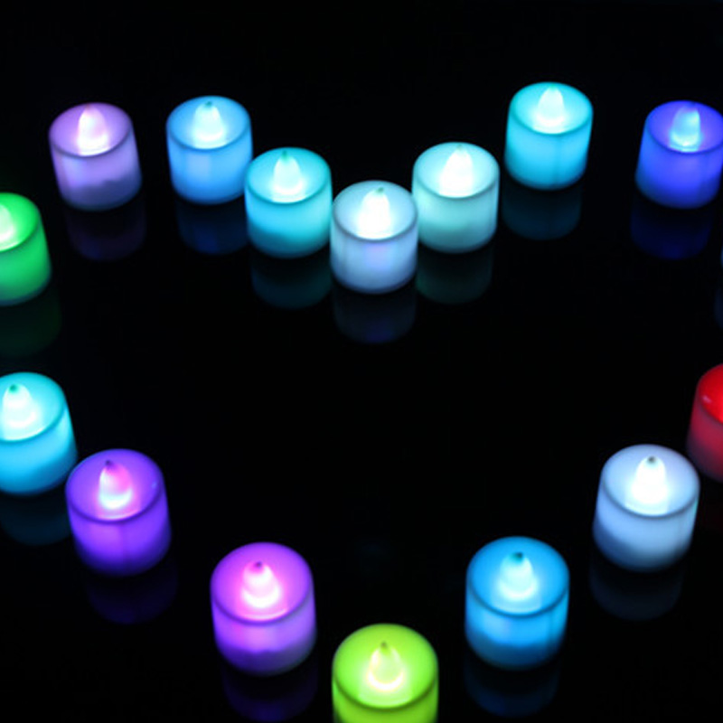 Flameless Smokeless Safe To Use7 Color LED Changing Electronic Flameless Candle Lamp Home Party DecorBV789