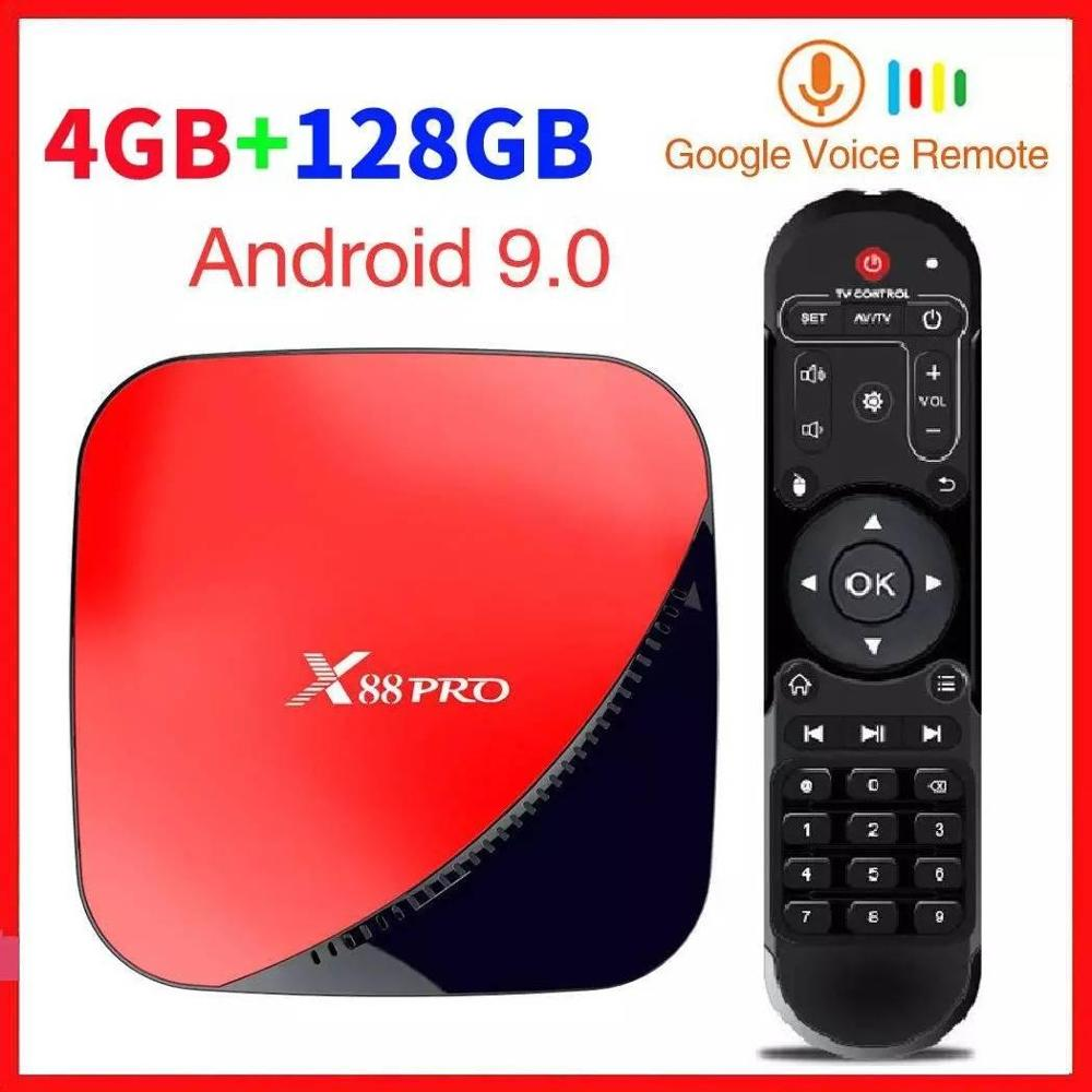 X88 pro Android 9,0 Smart TV Box 4GB RAM 64G ROMA 128GB Rockchip RK3318 5G Wifi 4K HD Set Top Box Google Media Player YouTube