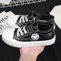 Kids Shoes Girls Children Canvas Shoes Leather Boys Sneakers Spring Autumn 2019 Fashion Children Biscuit Shoe S 235
