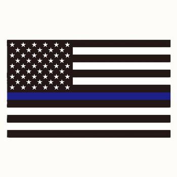 Naklejka z niebieską linią-3 #215 5 cali Czarny biały i niebieski odblaskowy magnetyczny flaga ameryki naklejka na samochody i ciężarówki tanie i dobre opinie YOUQI Cała powierzchnia CN (pochodzenie) Flaga narodowa 5inch Nadwozie samochodu Naklejki 3inch