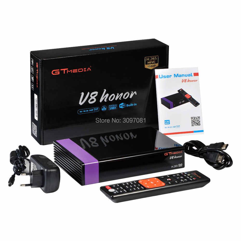 Nuovo DVB-S2 GTmedia V8 Honor Europa Cline per 1 Anno costruito in wifi Ricevitore Satellitare stessa come GTmedia V8 Nova freesat V9 Super