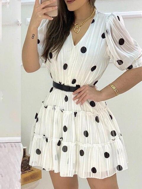 Купить 2020 женское модное элегантное повседневное мини платье с v картинки цена