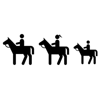 15*4.9cm HORSE RIDING FAMILY DECAL STICKER Warm And Romantic Car Accessories Motorcycle Helmet Car Styling image