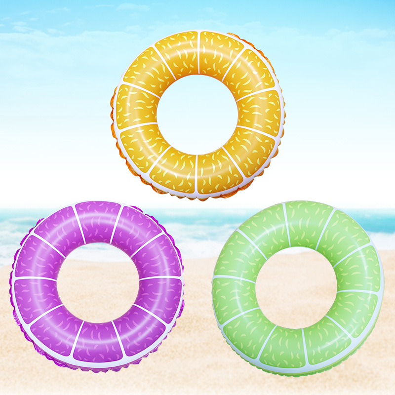 Summer Water Inflatable Toys Children Swimming Ring Life Buoy Pvc Fruit Printing Swimming Ring Sports Swimming Supplies| |   - AliExpress