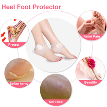 Heel Cushion Shoes-Accessories Heel-Protector Anti-Cracking-Socks Relieves Pain Silicone