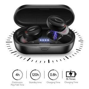 Bluetooth 5.0 bezprzewodowy/a słuchawki TWS słuchawki 3D Stereo, odporny na pot, słuchawki sportowe Mini douszne słuchawki douszne do IOS Android
