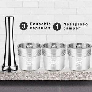 Set de filtros de café reutilizables de acero inoxidable, cápsulas rellenables, recipiente Tamper para ILLY X9 X8 X7.1 Y5 Y3 Y1.1