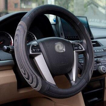 Car Steering Wheel Cover Auto Interior Accessories for infinitifx jaguar f-pace xf land rover evoque freelander 2 isuzud-max