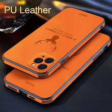 Luxury Camera Lens Protection Shockproof Silicone PU Leather Deer Phone Case For iPhone 12 11 Pro Max Mini Cover Fundas Coque